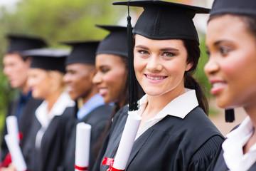 female college graduate at graduation