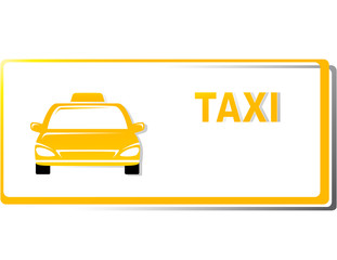 yellow taxi business card