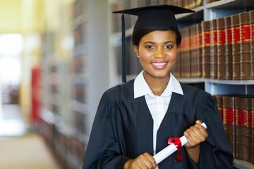 pretty african university law school graduate