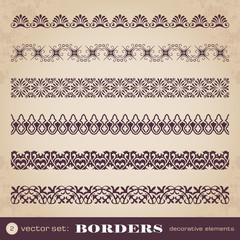 Borders decorative elements set 2