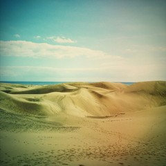Maspalomas Dunes in Gran Canaria, Spain