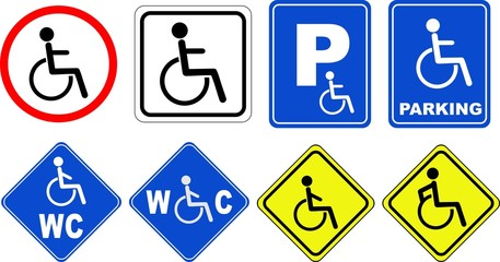 Disability  icon set