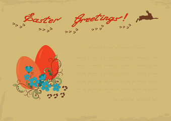 Retro Easter Greeting card