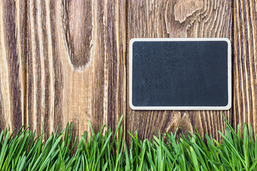 blackboard and green grass
