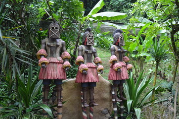 African Warrior Statues