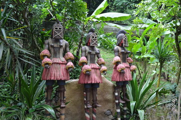 African Warrior Statues