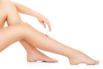 Leg depilation