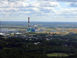 Aerial view of Tallinn city suburbs