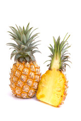 Fresh pineapple isolated on white background