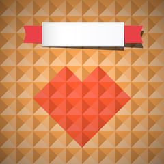Heart Symbol on Retro Triangle Background