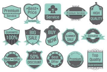 Sale Banners and Labels