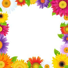 Colorful Gerbers Flower Frame