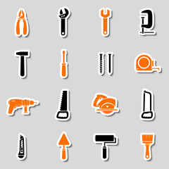 Collection of toolbox stickers