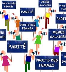 Manifestation féministe