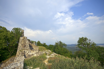 Ruins of Tatika castle with view