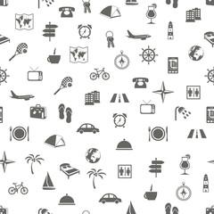 travel and accommodation seamless pattern