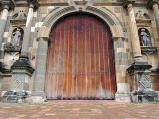 Old massive door of Cathedral