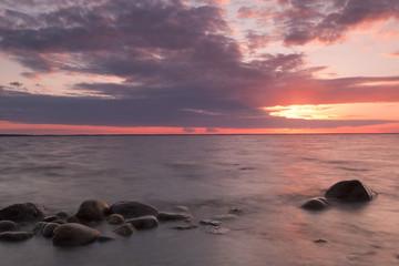 Beautiful sunset, baltic sea