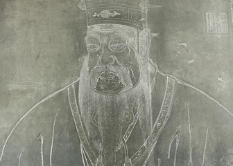 stone carve of confucius in xian,china