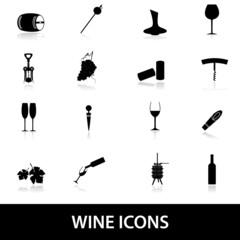 wine icons eps10