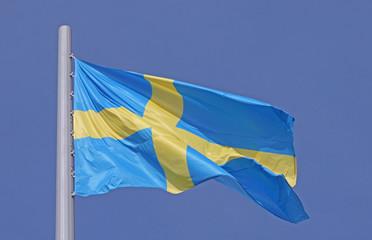 flag of Sweden over blue sky