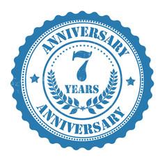 7 years anniversary stamp
