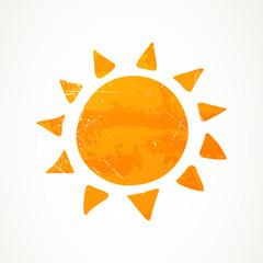 Vector Illustration of an Abstract Summer Sun