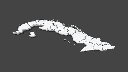Map of Cuba.