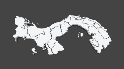 Map of Panama.