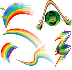 Rainbow set of decorative elements