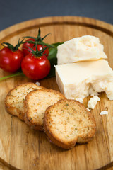 Cheese and tomato plate