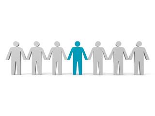 Team leader. Company boss. Teamwork. Concept 3D illustration.