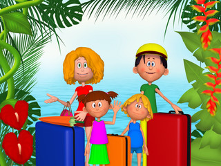 Happy 3d family vacations