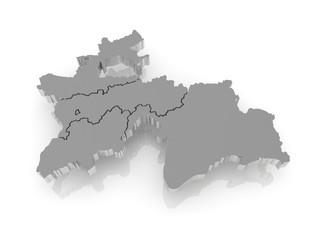 Map of Tajikistan.
