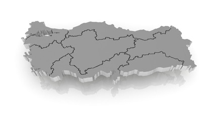 Map of Turkey.