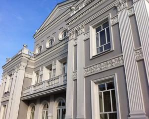 old building facade in Kielce , Poland