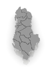 Map of Albania.