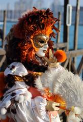 Autocollant pour porte Venise Carnaval de Venise, Italie