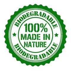 Biodegradable stamp