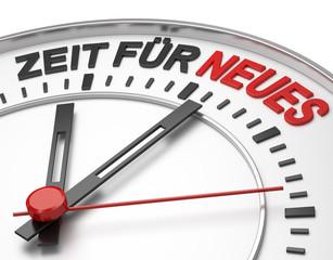 Zifferblatt Zeit für Neues