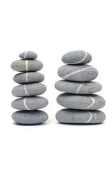 Pebble stones two tower