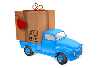 Small lorry with parcel