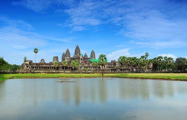 Famous View of Angkor Wat Temple