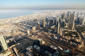 Downtown of Dubai (United Arab Emirates) in the sunrise