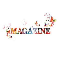 """Colorful vector """"MAGAZINE"""" ; background with butterflies"""