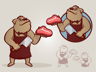 Retro Butcher Illustration