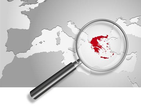 Landkarte *** Europa Griechenland