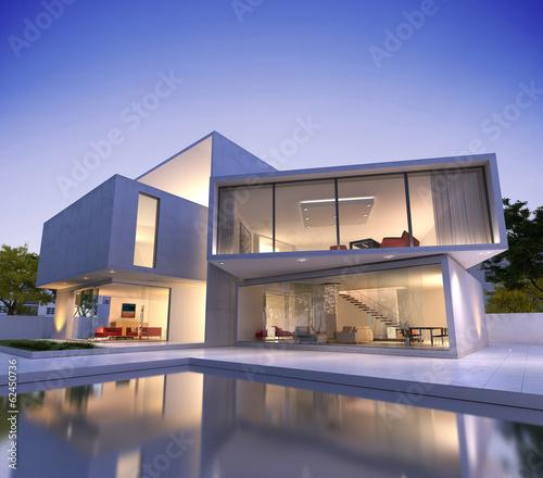 Quot Contemporary House With Pool Quot Stockfotos Und Lizenzfreie