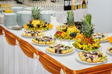 Rich banquet dessert table