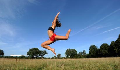 Frau beim outdoor sport